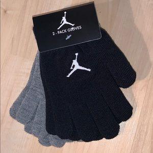 JORDAN JUMPMAN Embroidered logo 2 pack gloves